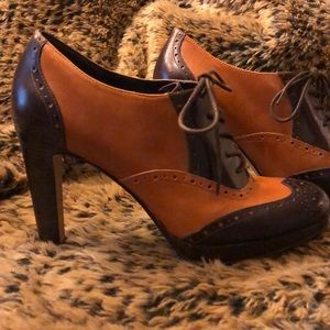 Enzo Angiolini Lace-Up Oxford High Heels